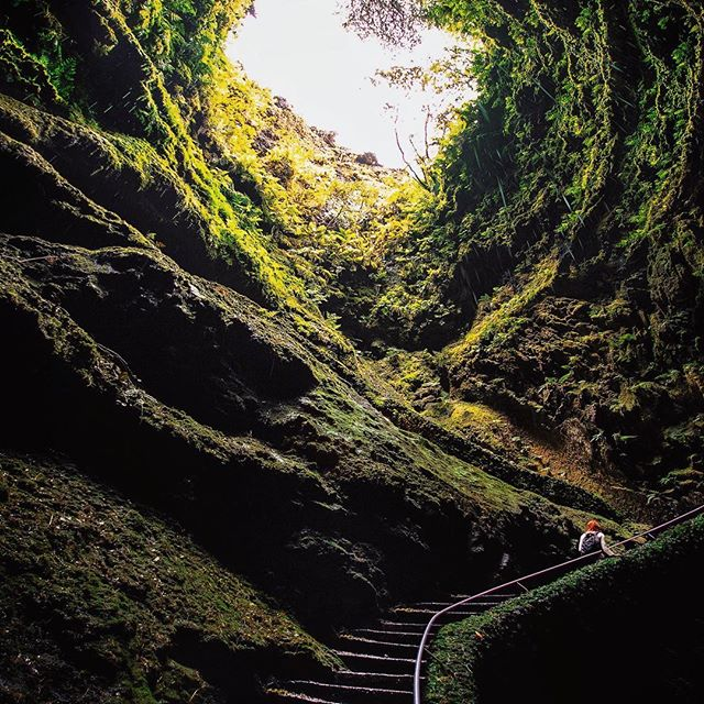 On our first couple of days in the Azores, we explored some of the extinct volcanos that make up the island of Terceira. . Algae do Carvão (The Cave) is